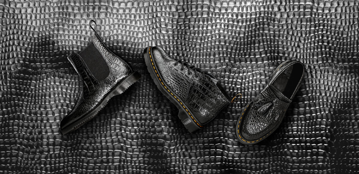 DR MARTENS LAUNCHES A CROCO EFFECT LINE